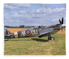 Supermarine Spitfire T9 Fleece Blanket