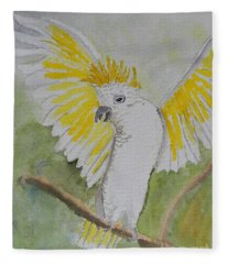 Suphar Crested Cockatoo Fleece Blanket