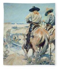 Supply Wagons Fleece Blanket