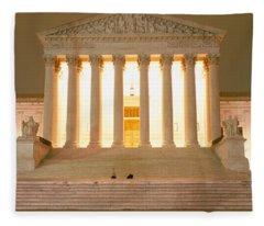 Supreme Court Building Illuminated Fleece Blanket