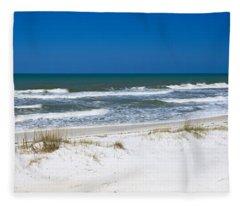 Surf On The Beach, St. Joseph Peninsula Fleece Blanket