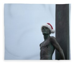 Surfing Santa Fleece Blanket