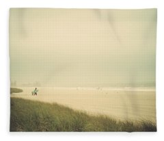 Surf's Up Seaside Park New Jersey Fleece Blanket