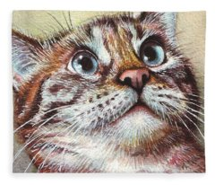 Watercolor Pet Portraits Fleece Blankets