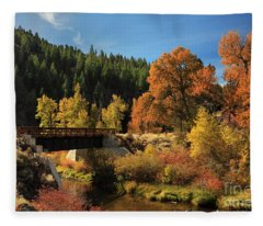 Susan River Bridge On The Bizz 2 Fleece Blanket