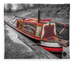 Swallow Canal Boat Fleece Blanket