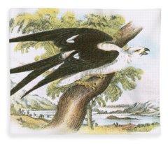 Swallow-tailed Kite Fleece Blanket