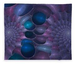 Swallow The Blue Pill Fleece Blanket