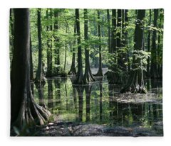Swamp Land Fleece Blanket