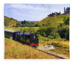 Swanage Steam Railway Fleece Blanket