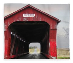 Swartz Covered Bridge Ohio Fleece Blanket