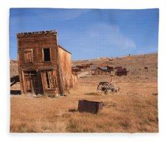 Swazey Hotel Bodie Ghost Town Fleece Blanket