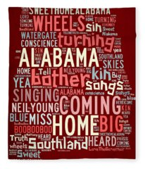 Sweet Home Alabama 4 Fleece Blanket