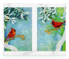 Redbird Fleece Blankets