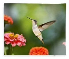 Fleece Blanket featuring the photograph Sweet Promise Hummingbird by Christina Rollo