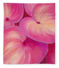Fleece Blanket featuring the painting Sweet Tarts II by Sandi Whetzel