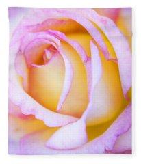 Sweetness In Pink Rose Fleece Blanket