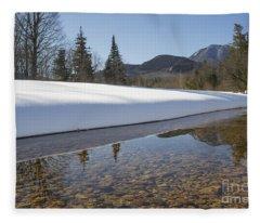 Swift River - Albany New Hampshire Usa Fleece Blanket