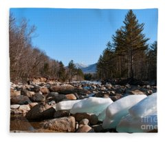 Swift River Ice Blocks Fleece Blanket