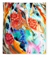 Swirling Grapes Fleece Blanket