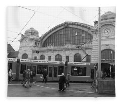Swiss Railway Station Fleece Blanket