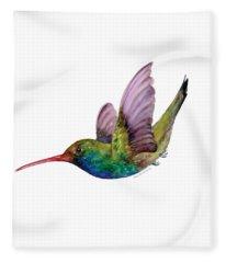 Swooping Broad Billed Hummingbird Fleece Blanket