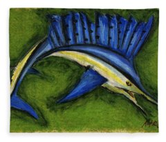 Sword Fish Fleece Blanket