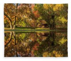 Sycamore Reflections Fleece Blanket