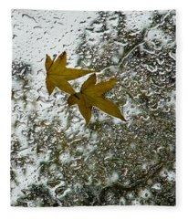 Symbols Of Autumn  Fleece Blanket