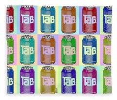 Tab Ode To Andy Warhol Repeat Horizontal Fleece Blanket
