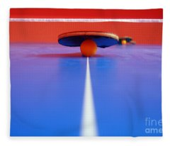 Table Tennis Fleece Blanket