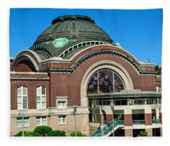 Tacoma Court House At Union Station Fleece Blanket
