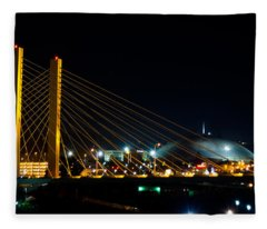 Tacoma Dome And Bridge Fleece Blanket