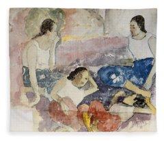 Tahitian Women, From Noa Noa, Voyage Fleece Blanket