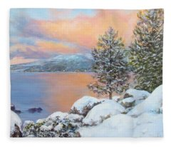 Tahoe Winter Colors Fleece Blanket
