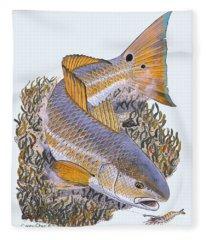 Tailing Redfish Fleece Blanket
