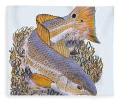 Tailing Redfish Fleece Blanket