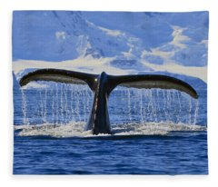 Tails From Antarctica Fleece Blanket