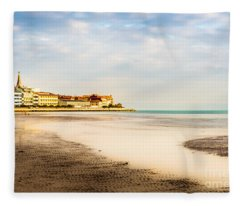 Take A Walk At The Beach Fleece Blanket