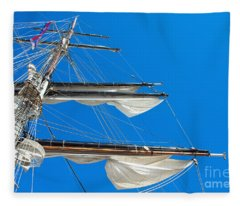 Tall Ship Yards Fleece Blanket