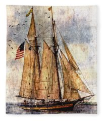 Tall Ships Art Fleece Blanket