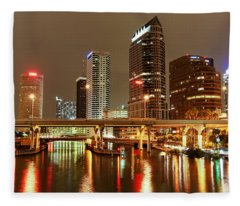 Tampa Skyline Fleece Blanket