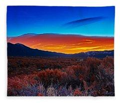 Taos Sunrise X Fleece Blanket