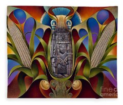 Tapestry Of Gods - Chicomecoatl Fleece Blanket
