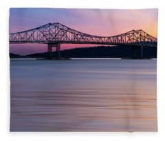 Tappan Zee Bridge Sunset Fleece Blanket