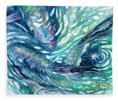 Tarpon Frenzy Fleece Blanket