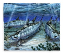 Tarpon In Paradise - Sabalo Fleece Blanket