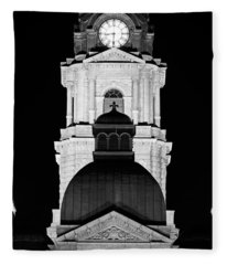 Tarrant County Courthouse Bw V1 020815 Fleece Blanket