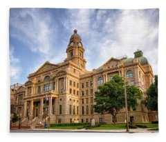 Tarrant County Courthouse II Fleece Blanket