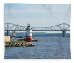Tarrytown Lighthouse Fleece Blanket